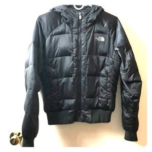 North Face 550 Puffer Hooded Coat